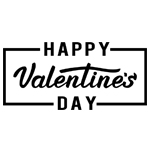Sign saying Happy Valentines Day